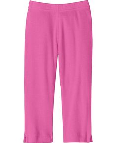 Very Güd Cotton Ribbed Capris from #HannaAndersson. (Hanna Andersson 10m-12y)