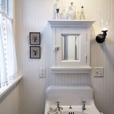 In about 12 hours this medicine chest will finally be put to use after sitting empty since last summer when the hubpenter installed her. Modern Bathroom Decor, Modern Decor, Bathroom Ideas, Bathroom Cupboards, Primitive Bathrooms, Shower Drain, Bathroom Renovations, Old Houses, Modern Farmhouse