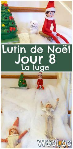 Les lutins ont fait de la luge dans l'escalier toute la nuit :O #elfontheshelf #lutin #noel #christmas Elf On The Shelf, Luge, Buddy The Elf, Noel Christmas, Shelf Ideas, Holiday Decor, Advent Calendar, Sled