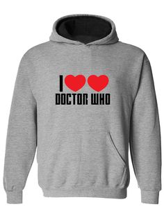 awesome I LOVE DOCTOR WHO- Sci fi fanatic Mens Hoodie, Hooded top