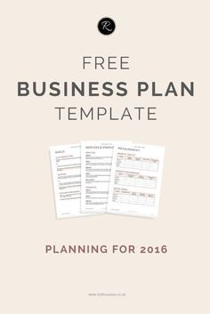 Get organised in 2016! Download this FREE Business Plan template (perfect for small businesses, entrepreneurs and biz bloggers!) #startup #followback #onlinebusiness #startup #entrepreneur #onlinebusiness #followback