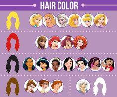Hay más damas principales de Disney con el pelo negro que con el pelo rubio: