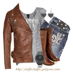 """""""Sparkle & Brown Leather"""" by steffiestaffie on Polyvore"""