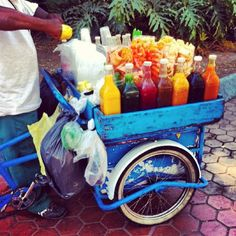 """""""raspados"""" Used to eat these all the time as a child, good memories    Beat the heat with agua frescas in Mexico City, DF"""