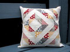 Hometown Throw Pillow  (original quilt pattern; links to pillow tutorial)