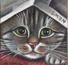 Tabby Kitten Mini Painting