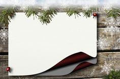 Tablicy Ogłoszeń, Holly, Papier, Tło, Boże Narodzenie