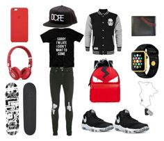 """""""Untitled #31"""" by heedagurl on Polyvore featuring Topman, NIKE, Dope, Apple, Beats by Dr. Dre, Blind, Fendi, Rawlings, Diesel and men's fashion"""