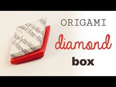 On this page you can view all of my origami instructions in one place! I have many origami video tutorials, boxes, bows, envelopes, hearts and more! Paper Folding Crafts, Origami Paper Folding, Origami And Kirigami, Modular Origami, Diy Paper, Paper Craft, Origami Ring, Origami Gift Box, Cute Origami