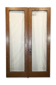Original one lite double doors from the Department of Buildings, NYC. The mortise and cylinder lock and the large beveled glass panels are […] Porch Doors, Double Entry Doors, Arched Doors, Antique Interior, Antique Doors, Pocket Doors, Beveled Glass, Closet Doors, Glass Panels