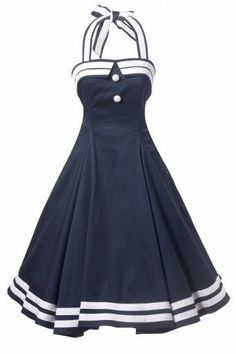 Collectif Clothing – COLLECTIF 50s Sindy Doll Sailor navy swing dress