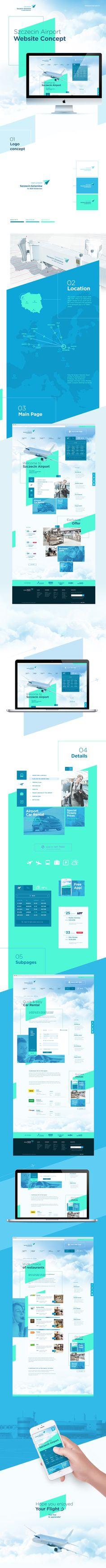 Szczecin Airport | website concept on Behance