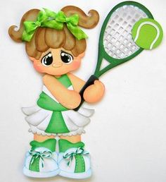 Tennis Girls Sport Paper Piecing Set for Scrapbook Pages Rhonda RM613ART   eBay