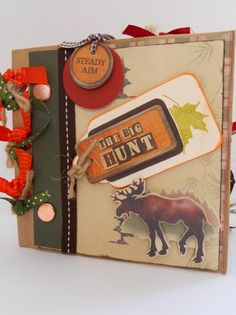 Going Hunting Mini Paperbag Scrapbook by crazygirlscreations, $24.00.  I think I can reduce the price!  Love these paper bag scrapbooks!