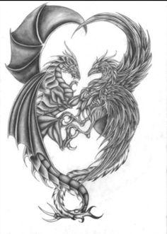 Dragon and Phoenix...like yin and yang.