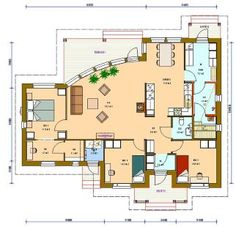 Kastelli Valokaari 119 | Pohjapiirrustus Future House, My House, Home Design Plans, Sims 2, Layouts, House Ideas, Floor Plans, House Design, Flooring