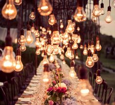 Bali Wedding via Style Me Pretty...look at those lights!