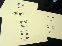 Téléchargez les têtes de LEGO pour votre chamboule-tout d'anniversaire
