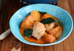 Thai Red Curry Chicken with Winter Squash Recipe - Jeanette's Healthy Living