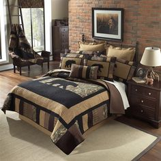 Donna Sharp Camo Bear Quilt Collection - Paul's Home Fashions