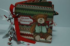 Christmas brag book premade pages mini scrapbook by ascrapabove, $20.00