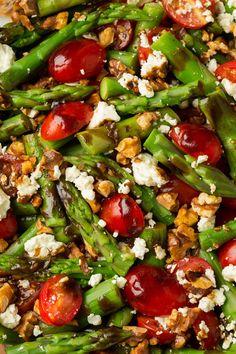 Asparagus Tomato and Feta Salad with Balsamic VinaigretteReally Mein Blog: Alles rund um Genuss & Geschmack Kochen Backen Braten Vorspeisen Mains & Desserts!