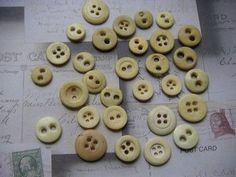 civil war bone buttons. My family saved a bunch of these.