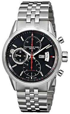 Raymond Weil Mens 7730ST20041 Freelancer Analog Display Swiss Automatic Silver Watch * See this great product.