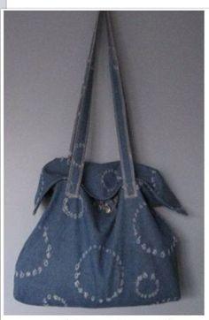 Spijkerstof tas met binnenzakje voor mobiel Verkocht