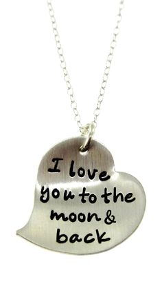 I love you to the moon and back #necklace