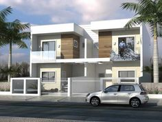 More and more homeowners now are looking for houses that project modern designs. Modern house designs are simple and do not have lavish decorations and design. Facade Design, Küchen Design, Design Case, Exterior Design, Design Ideas, Narrow House Designs, Small House Design, Modern House Design, One Floor House Plans