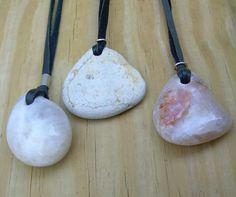 drilled beach stones 1572