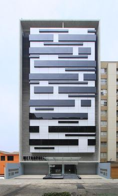 METROPOLIS designed the 'METROPOLIS' in Lima, Peru. http://en.51arch.com/2014/07/a7021-metropolis-office-building/