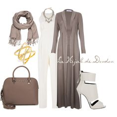 Hijab Outfit by le-hijab-de-doudou on Polyvore featuring Emilia Wickstead, Giuseppe Zanotti, MICHAEL Michael Kors, BaubleBar, BCBGMAXAZRIA and maurices