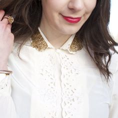 Add some oomph to an old blouse with a little Mod Podge and a whole lot of glitter!