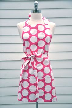 I do love a fuchsia apron .... Garson Jasper Polka Dot in Pink Kitchen and Craft by GarsonJasper