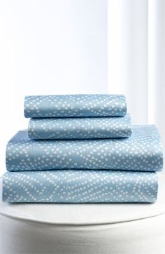 Diane von Furstenberg 'Batik Dot' 300 Thread Count Flat Sheet available at #Nordstrom