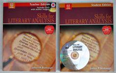 Bundle Skills for Literary Analysis Teacher Edition With DVD And Student Edition #TextbookBundleKit