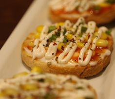 Corn and cheese bruschetta makes a great snack. #foodporn #foodgasm #foodstagram #goodfood #hungryforever #bruschetta #italianfood #oreganos