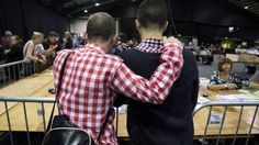 Ireland same-sex referendum set to approve gay marriage  Couple watches counting of same-sex marriage referendum votes