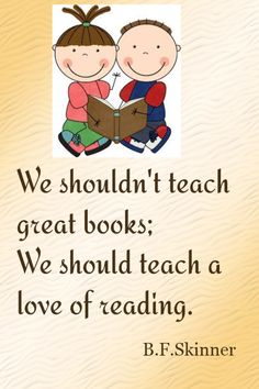 Love of reading...