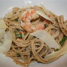 Champagne Shrimp and Pasta http://allrecipes.com/recipe/champagne-shrimp-and-pasta/