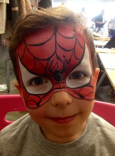Quick Spiderman facepainting by Athena Zhe