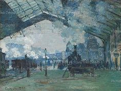 12 Sheet  Monet La Gare SaintLazare  Edible CakeCupcake Party Topper ** Continue to the product at the image link.(This is an Amazon affiliate link and I receive a commission for the sales)