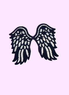 The Walking Dead Daryl Angel Wings Patch Iron on Applique Alternative Clothing