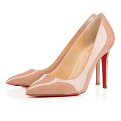 "Shoes - Pigalle - Christian Louboutin C$ 795.00 Named after one of his favorite neighborhoods in Paris, ""Pigalle"" is Monsieur Louboutin's most iconic style. With its fine stiletto heel and pointed toe, this celebrated model is a stunning look for business and pleasure alike. The 100mm version in nude patent leather will keep you comfortable on your feet from rendezvous to rendezvous."