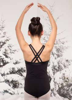 focus and prepare for your final performance in this four–way stretch reversible leotard. | Starry Night Leotard
