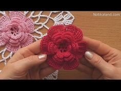 CROCHET doily Crochet flower Tutorial Part 2 - YouTube