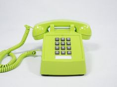 Vintage chartreuse phone Etsy