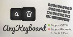 AnyKeyboard [Portrait] . AnyKeyboard is an application that allow users to custom your own keyboard. This is an application extension. It is easy to edit by yourself, because it has .xib file that you can add extra buttons that you want.The code is written in Objective-c and requires Xcode 6, support iPhone4s, 5, 5s, 6, 6